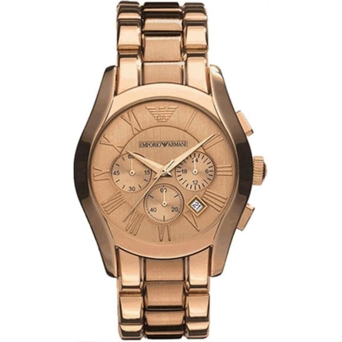 Armani Watches AR0365 Rose Gold Men's Chronograph Watch