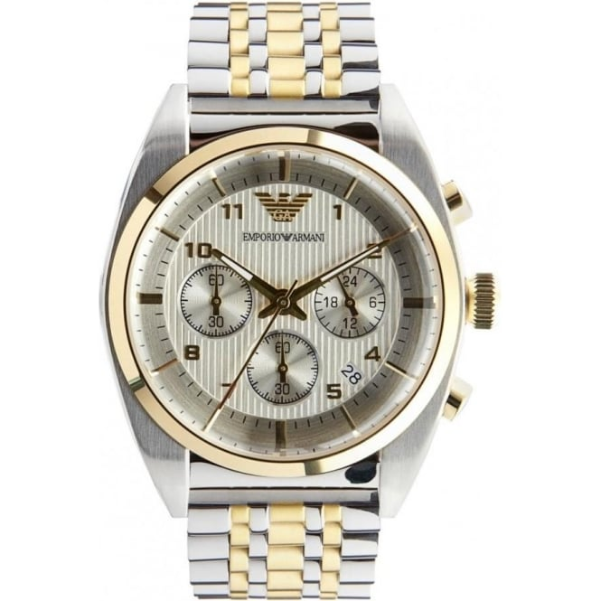 ba1a1dc0d5 Armani Watches AR0396 Gents Silver and Gold Watch