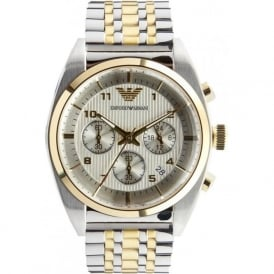 Armani Watches AR0396 Gents Silver and Gold Watch