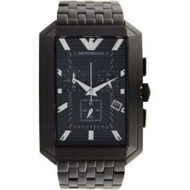 Armani Watches AR0475 Stainless Black Mens Watch
