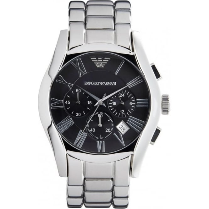 armani watches for from tic watches uk mens womens ar0673 classic stainless steel mens chronograph watch