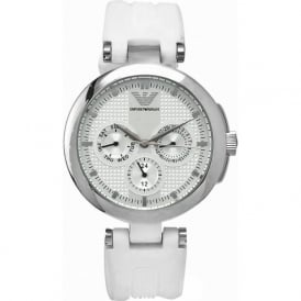 Armani Watches AR0736 White Silicon Womens Watch
