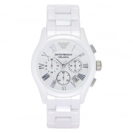 AR1403 Gents Chronograph White Ceramic Armani Watch