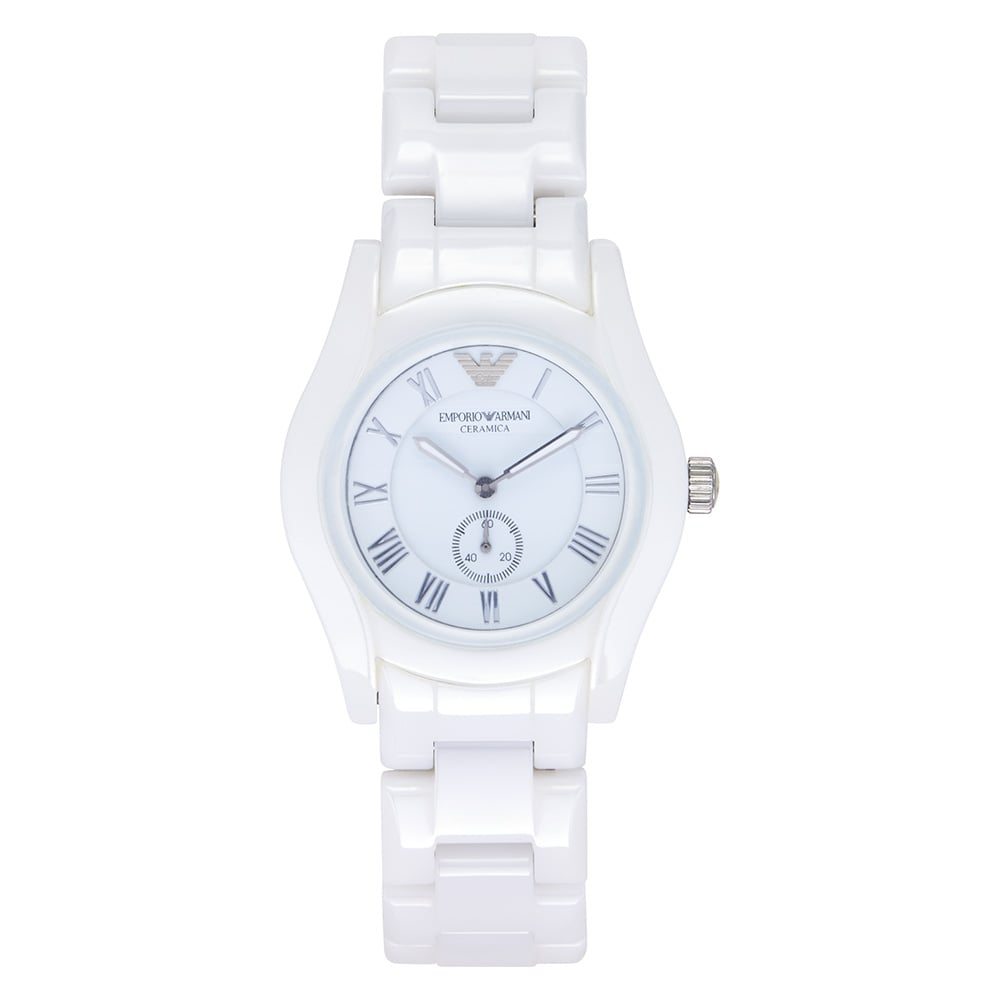 image watch lady emporio from womens white the watches armani ladies