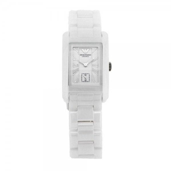 3de0c783 Ceramic White Womens Rectangle Watch AR1409