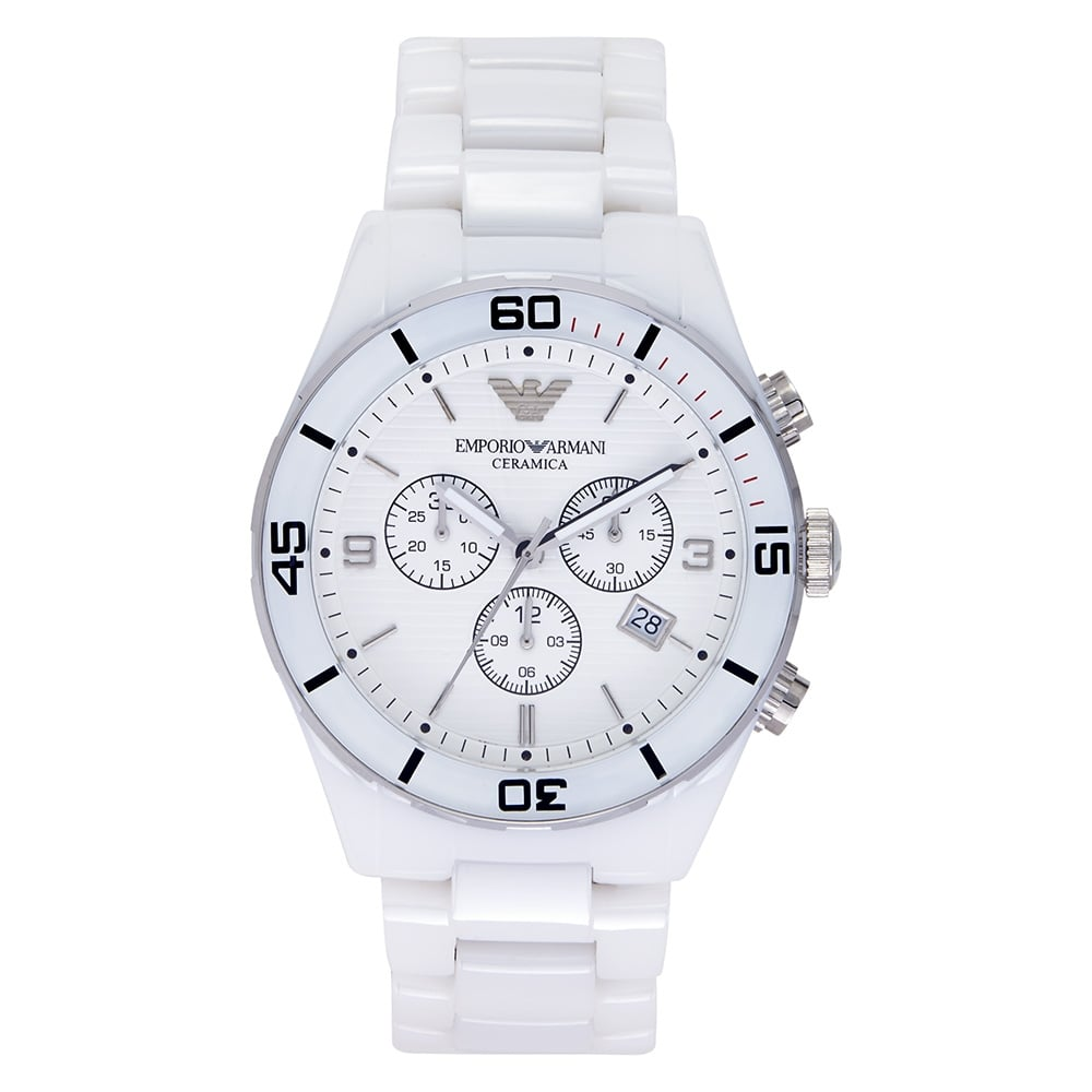b8fcd1b4339d7 Emporio Armani AR1424 ceramic white watch | cheapest Armani AR1424 ...