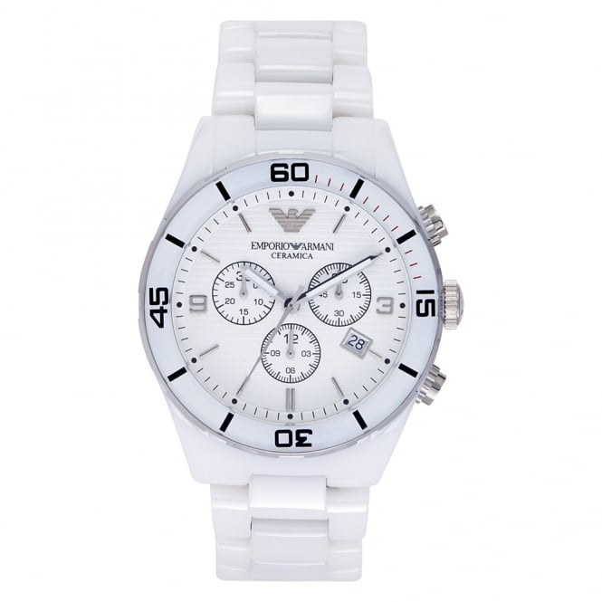 Armani Watches AR1424 Gents White Ceramic Watch