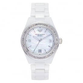 AR1426 Ladies White Ceramic Watch