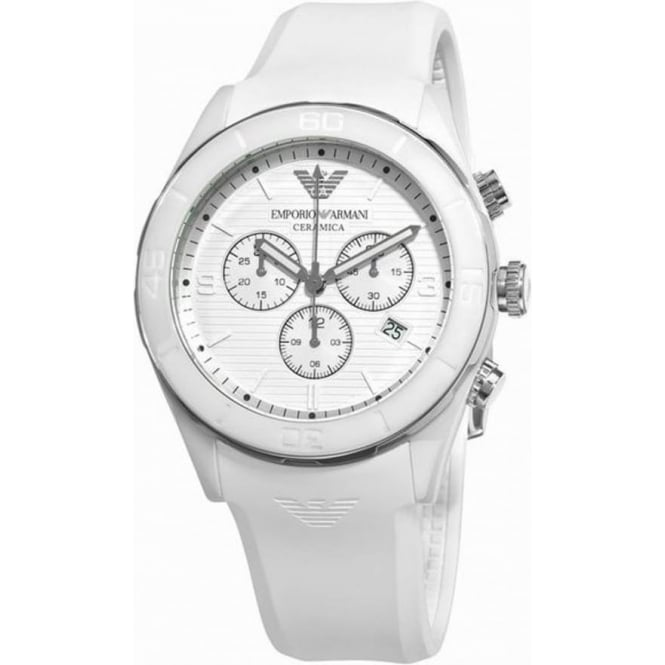 ar1435 armani mens white rubber chronograph watch available at tic armani watches ar1435 white chronograph mens watch