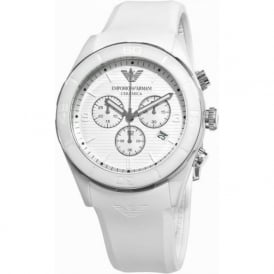AR1435 White Chronograph Mens Watch
