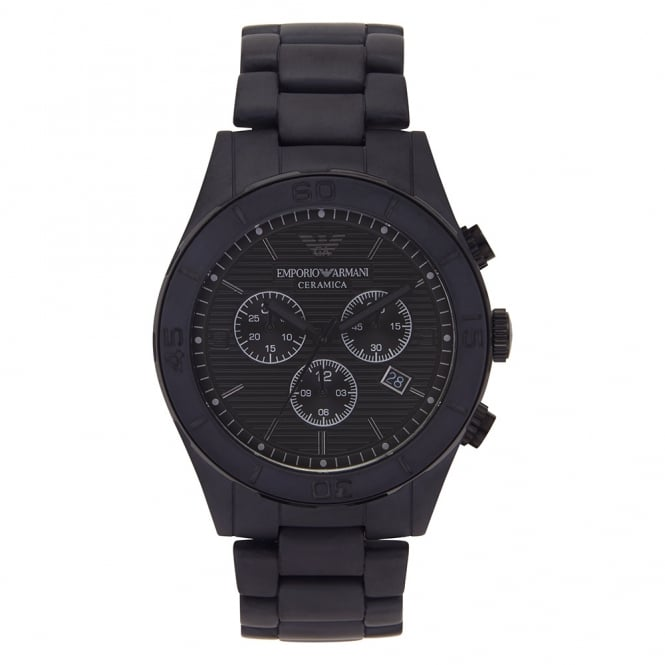 Armani Watches AR1458 Black Ceramica Chronograph Men's Watch