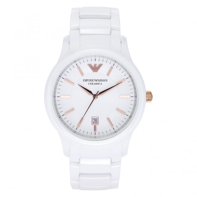 Armani Watches AR1467 White Ceramica Women's Watch