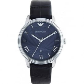 Armani Watches AR1651 Emporio Armani Gianni Unisex Blue Leather Watch
