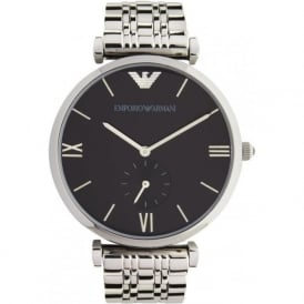 Armani Watches AR1676 Mens Black & Stainless Steel Watch