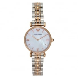 AR1683 LADIES ROSE GOLD & STAINLESS STEEL WATCH