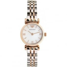 AR1689 LADIES ROSE GOLD & STAINLESS STEEL WATCH