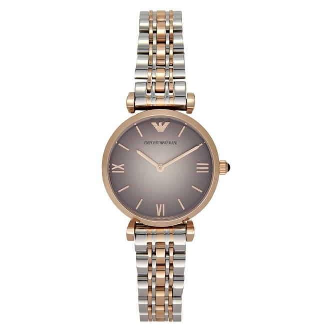 Armani Watches AR1725 Stainless Steel & Rose Gold-Tone Ladies Watch