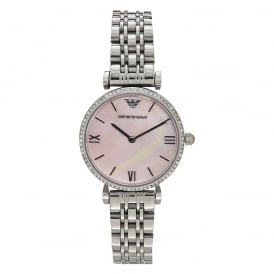 AR1779 LADIES PINK & STAINLESS STEEL WATCH