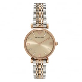 AR1840 Two Toned Silver & Rose Gold Women's Watch