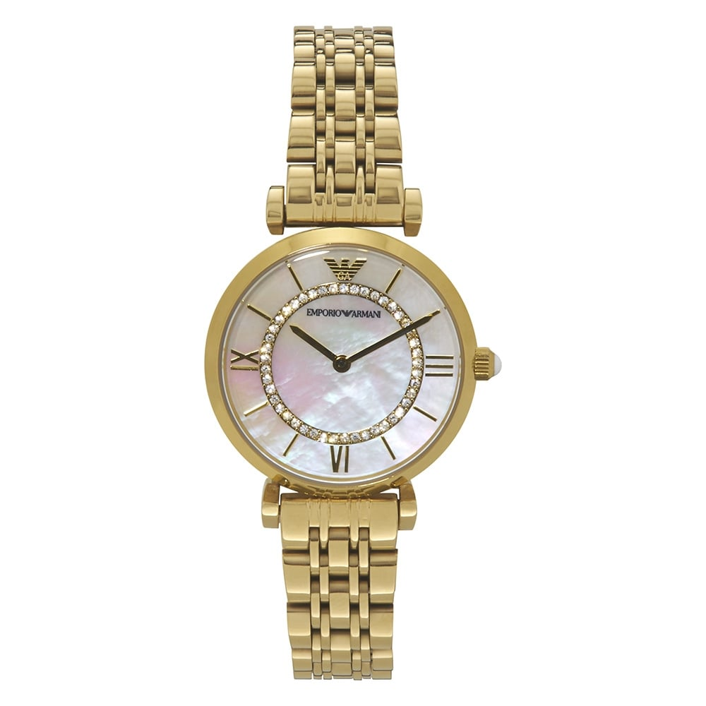 Ar1907 Emporio Armani Mother Of Pearl And Gold Tone