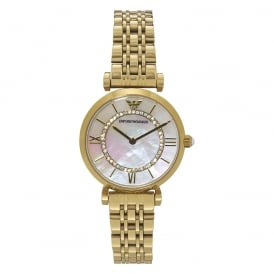 AR1907 Mother of Pearl & Gold Tone Stainless Steel Ladies Watch