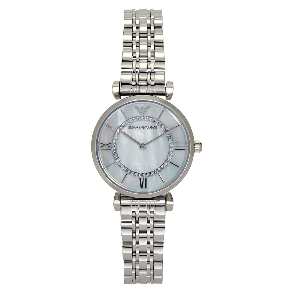 bracelet watch stainless steel watches image swarovski white city simple