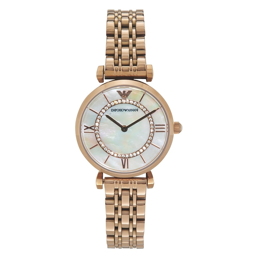 AR1909 Armani Ladies Rose Gold Metal Bracelet Watch available at Tic ... 1accdd7d0fd5