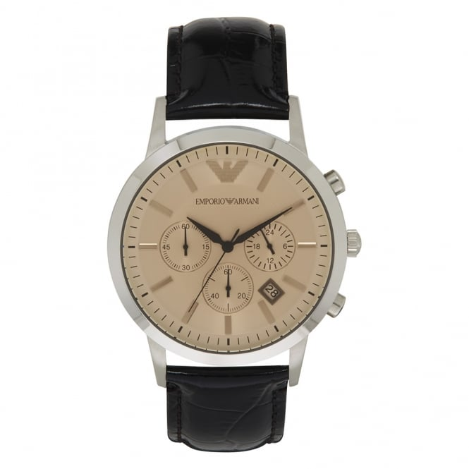 Armani Watches AR2433 Armani Brown Leather Men's Watch