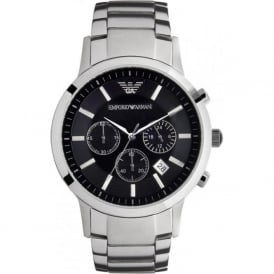 Armani Watches AR2434 Classic Armani Stainless Steel Mens Chronograph Watch