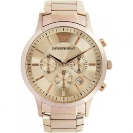 Armani Watches AR2452 Mens Rose Gold Classic Watch