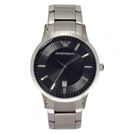AR2457 Gents Silver & Black Watch