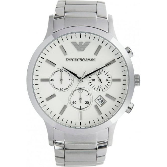 c127814f1a AR2458 Gents Silver Stainless Steel Watch