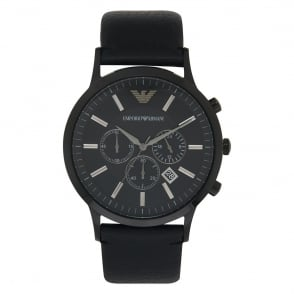 Armani Watches AR2461 Black Leather Chronograph Men's Watch