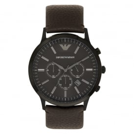 AR2462 Sportivo Brown Leather Chronograph Mens Armani Watch
