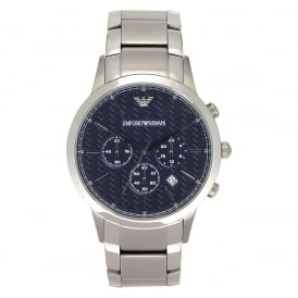 AR2486 Men's Steel Bracelet and Blue Dial Chronograph Watch