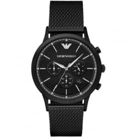 Armani Watches AR2498 Men's Black Mesh Chronograph Watch