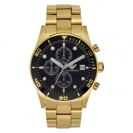 AR5857 Gold Stainless Mens Watch PVD gold plate