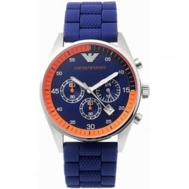Armani Watches AR5864 Mens Sports Blue & Steel Watch
