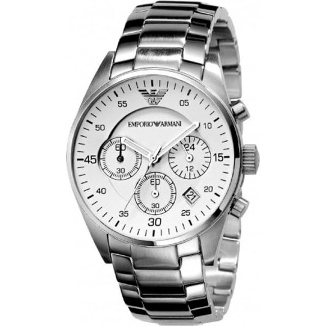 Armani Watches AR5869 Classic Stainless Steel Mens Chronograph Watch