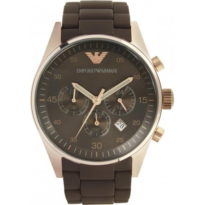 ddca88bddeaee AR5890 Mens Sports Brown Rose Gold Watch