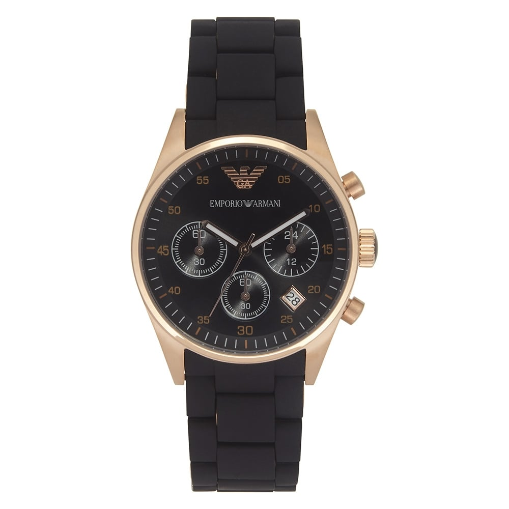 AR5906 Womens Emporio Armani chronograph Black and Gold  f9775a446