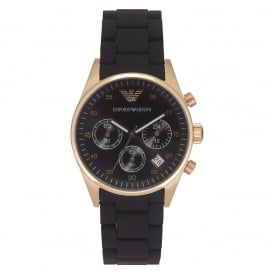 AR5906 Black and Rose Gold Womens Chronograph Watch