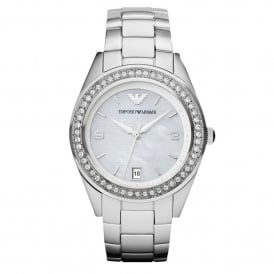 Armani Watches AR5992 Mother of Pearl & Silver Stainless Steel Ladies Watch