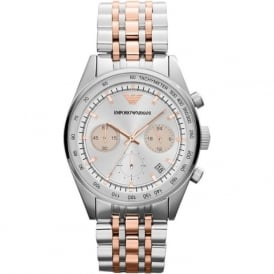 Armani Watches AR6010 Silver & Rose Gold Women's Watch
