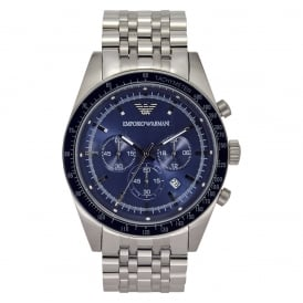 AR6072 Men's Blue Dial Silver Bracelet Watch