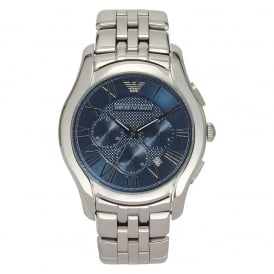 Armani AR1787 Classic Navy Blue Dial Stainless Steel Mens Watch