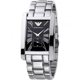 Armani Watches AR0156 Armani Silver&Black Stainless Steel Men's Watch
