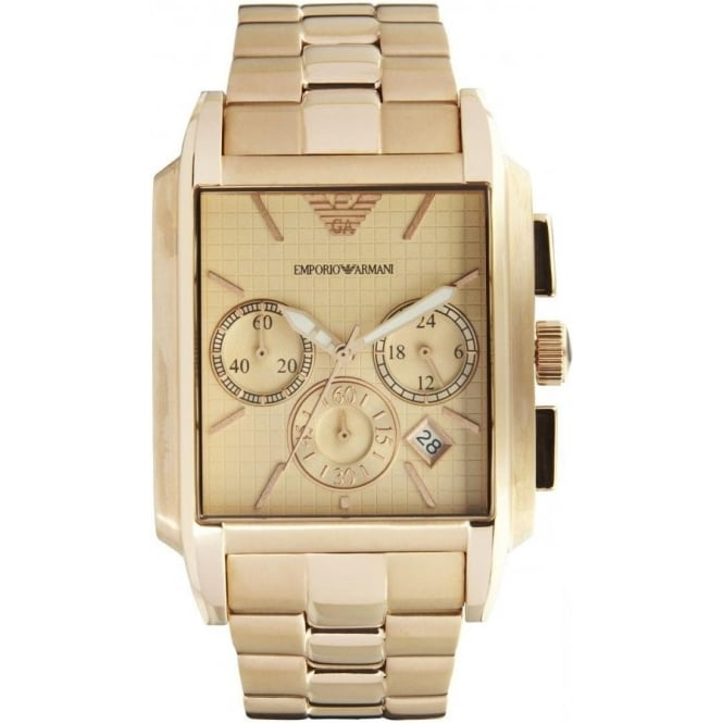 Armani Watches AR0322 Gents Gold Stainless Steel Watch