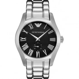 Armani Watches AR0680 Armani Silver and Black Dial Stainless Steel Men's Watch