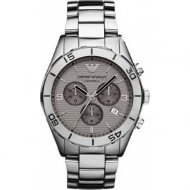 Armani Watches AR1462 Grey Ceramica Chronograph Men's Watch